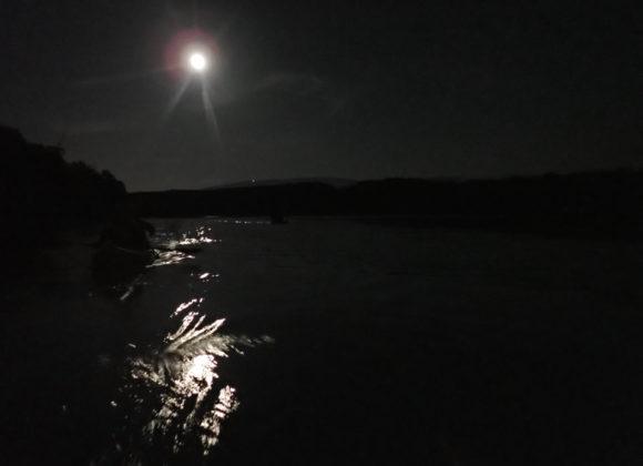 Descente du Rhône en Kayak pleine lune