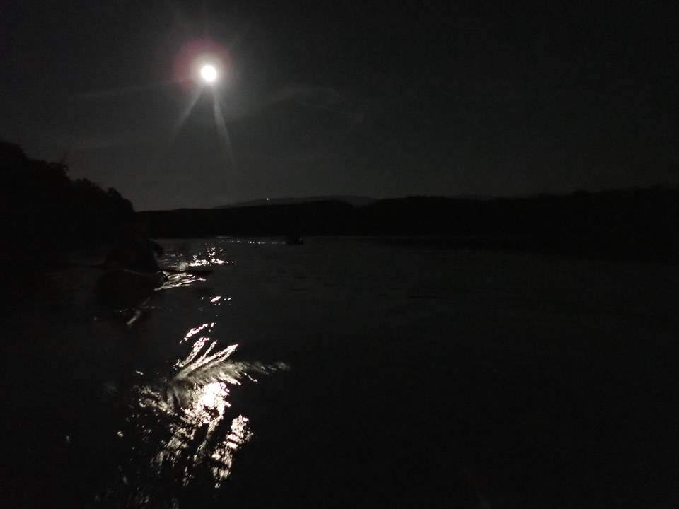 Descente du Rhône Pleine Lune en kayak