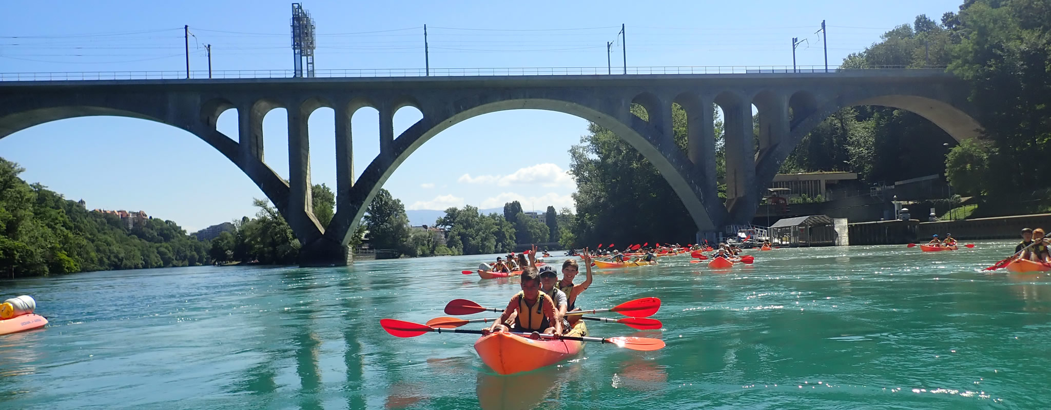Descente du Rhône en kayak