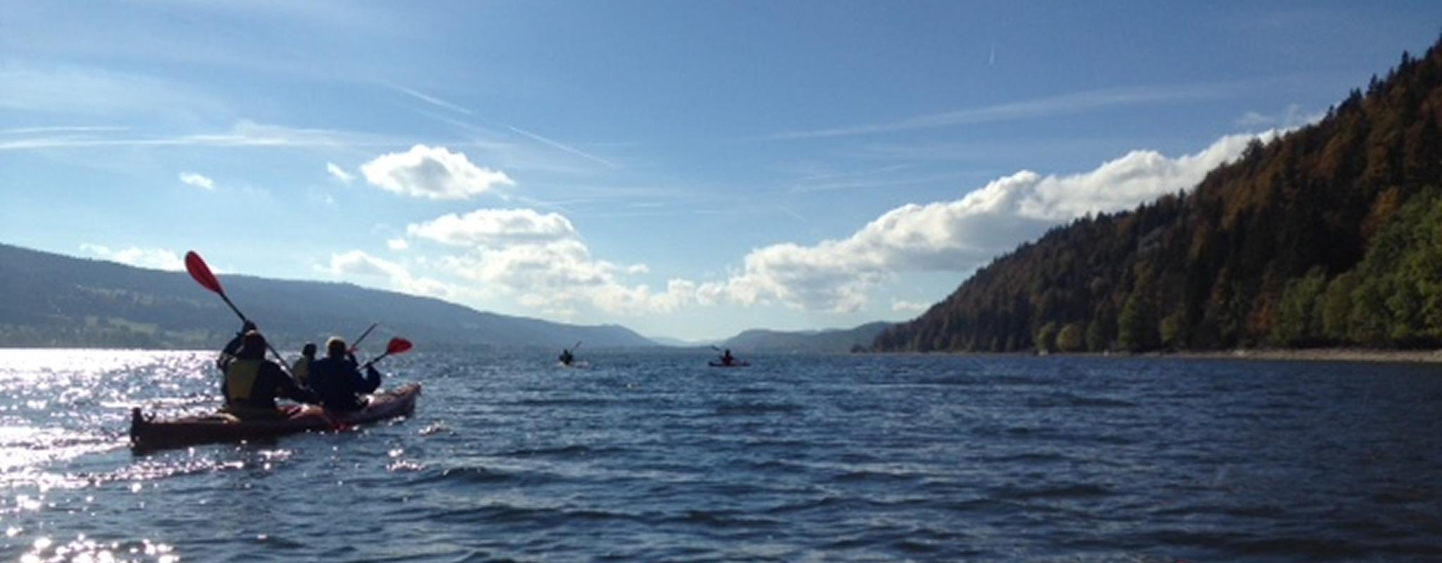 Randonnée  en kayak sur le Lac de Joux