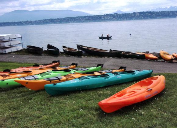 Locations canoë kayak à l'Esplanade du Vengeron