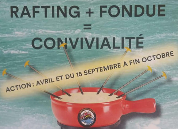 Action rafting + fondue